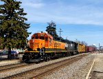 BNSF 2907 charges west towards Mendota, IL